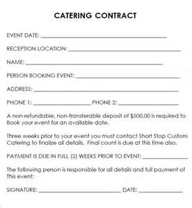 Contract Letter For Catering Catering Contract 7 Free Pdf