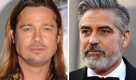 Brad Pitt And Turn Their Noses Up To The Oscars by Top 10 Beards Brad Pitt George Clooney Zac