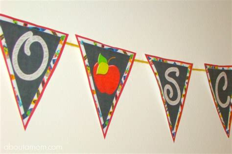 printable school banner back to school party printables about a mom