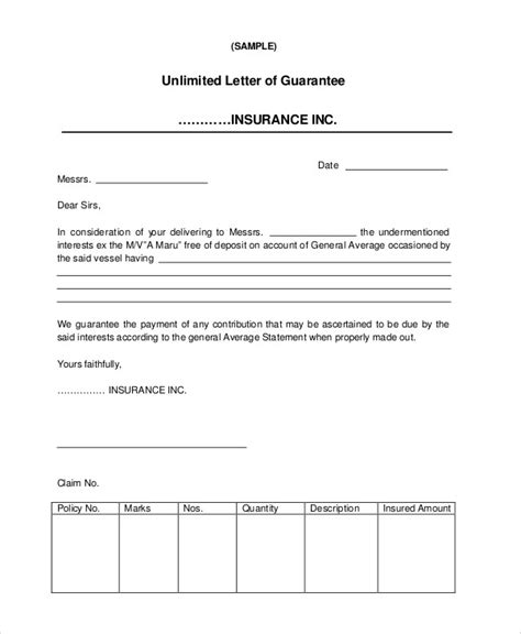 Guarantee Letter Sle For Loan guarantee letter sle payment 28 images sle personal