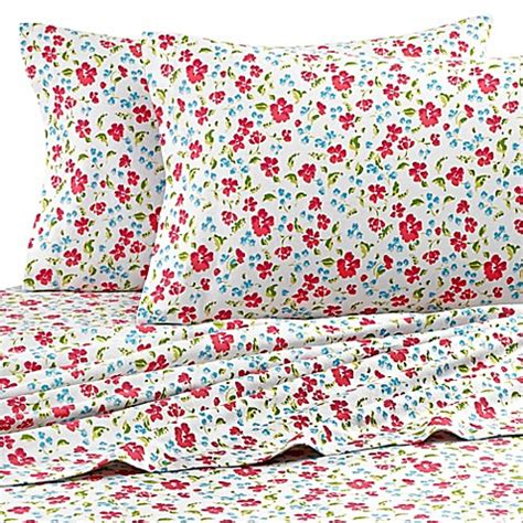 floral bed sheets teen vogue 174 floral field flannel sheet set in pink bed