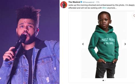 Jacket Boy Hm 9 B Ba583 the weeknd drops h m controversial monkey hoodie on child model syracuse