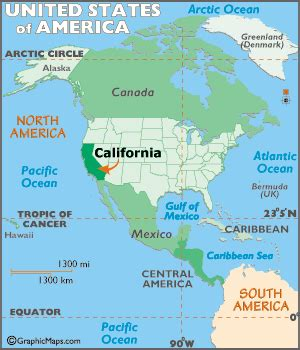 california map / geography of california/ map of