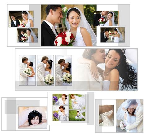 classic white landscape wedding album photoshop wedding