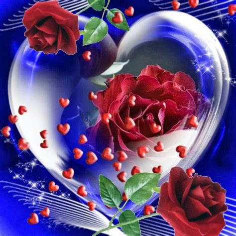 imagenes de good night con corazones corazones y rosas amor pinterest artists