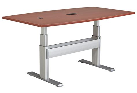 Adjustable Height Meeting Table Newheights Elegante Xt Height Adjustable Conference Table By Rightangle Products