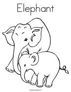 grey elephant coloring pages elephant coloring pages twisty noodle