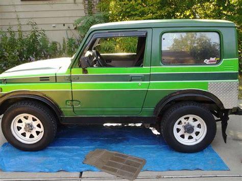 how can i learn about cars 1986 suzuki sj 410 instrument cluster sell used 1986 suzuki samurai jx in ballwin missouri united states