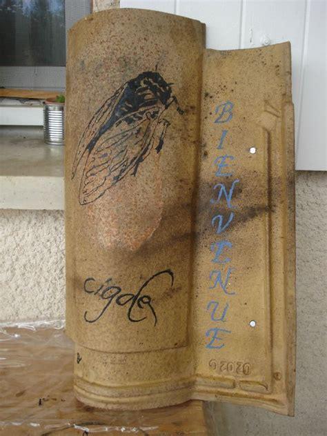 Vernis Tuiles Terre Cuite by Tuiles Peintes Peinture Sur Tuiles Fin Calinquette