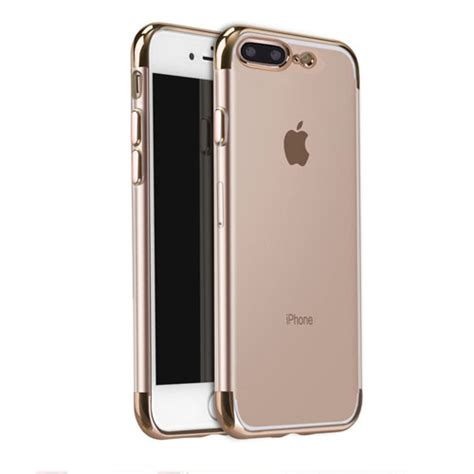 Iphone Leather Ip7 8 side clear electroplated frame tpu ip7 plus 716641