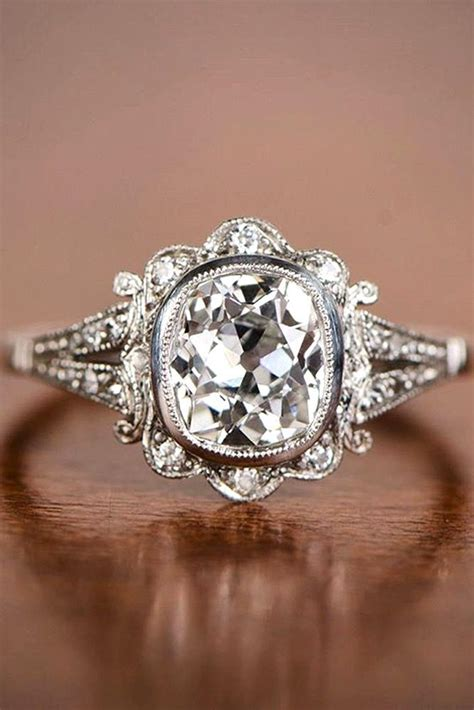 best 25 antique engagement rings ideas on