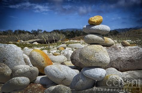stone cairns 17 mile drive pebble beach ca caryn esplin fine art photography