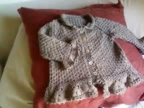 wonderful wallaby tutorial seed stitch baby cardigan with ruffled trim pattern in