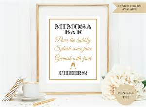 Wedding Welcome Sign Template Mimosa Bar Sign Printable File Mimosa Bar Printable
