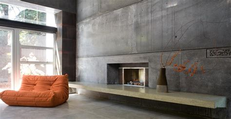 concrete interior design house 6 custom concrete fireplace by fu tung cheng cheng