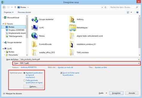 format excel en pdf enregistrer un document pdf avec excel