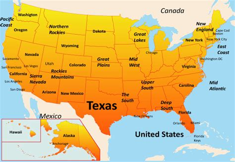texas in map of usa texas map showing attractions accommodation