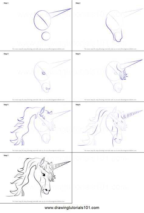 unicorn step by step how to draw unicorn printable step by step drawing