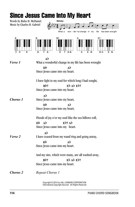 my lyrics with piano chords since jesus came into my sheet by charles h