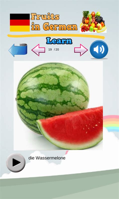 fruit in german learn fruits in german android apps on play