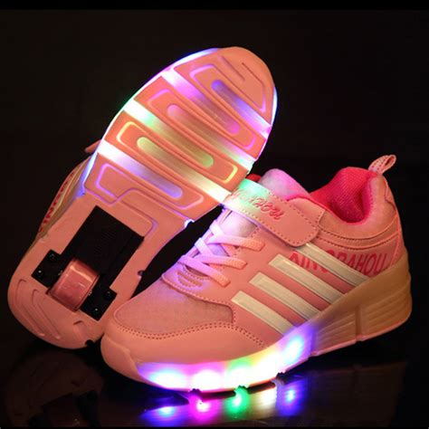 wheels light up shoes fashion children sneakers with wheels light up