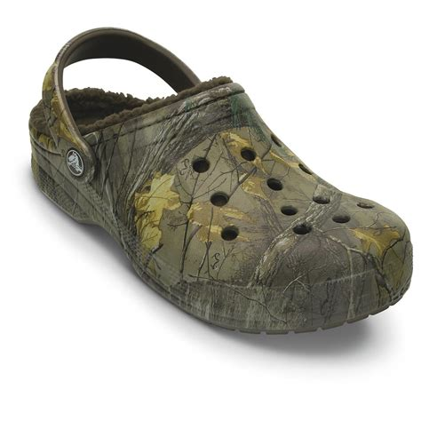 winter clogs for crocs unisex winter clogs realtree xtra 665561 casual
