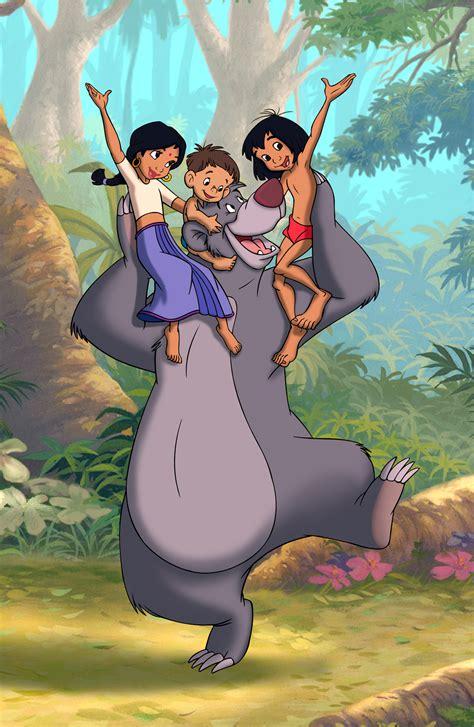 libro frog and the stranger image mowgli is with shanti ranjan and baloo the bear jpg disney wiki fandom powered by wikia