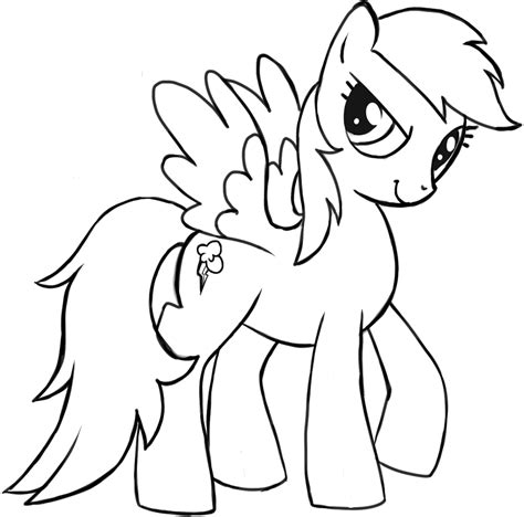 rainbow dash pony coloring page free my little pony rainbow dash coloring pages