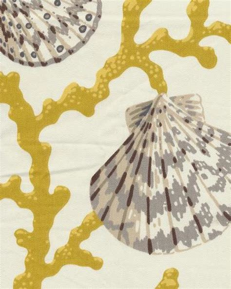 seashell upholstery fabric coral seashell scallop ocean sea shell modern bold graphic