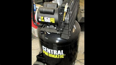 harbor freight central pneumatic 29 gallon 150psi air compressor