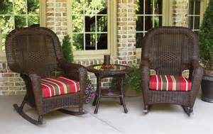 Resin Wicker Patio Furniture Sets Outdoor Patio Furniture Resin Wicker Rocking Chair Set Ebay