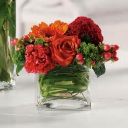 square vases floral arrangements