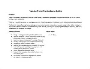 Trainer Manual Template by Outline Template 7 Free Documents In