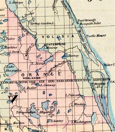 map orange county florida orange county 1871