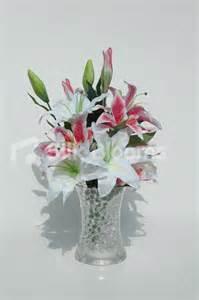 shop lovely vase table arrangement w pink white