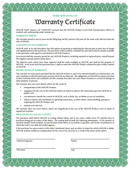 warrant card template 5 warranty certificate templates formats exles in