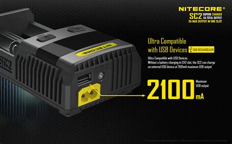 Nitecore Superb Speedy Battery Charger 2 Slot 3a For Li Ion And Nimh Sc2 nitecore superb speedy battery charger 2 slot 3a for li ion and nimh sc2 black