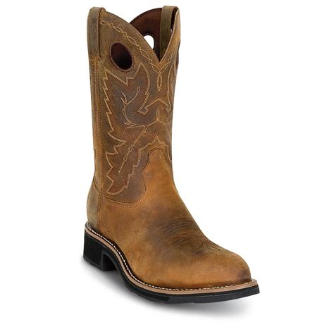 mens durango boots s durango boot 174 steel toe pull ons brown 180665