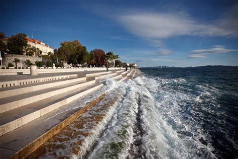 sea organ croatia hear this croatian seawall sing as the wind and waves lap