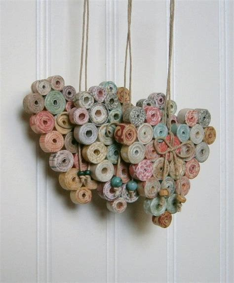 paper ornament crafts best 25 paper hearts ideas on day