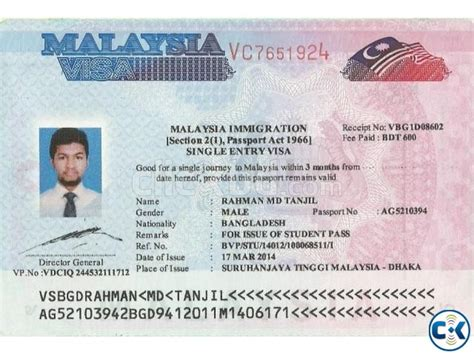 malaysia contract student visa airticket immigration
