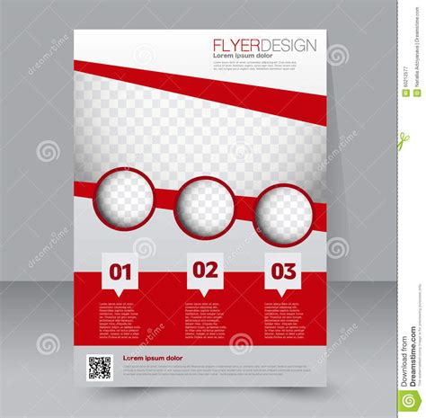 Flyer Template Brochure Design A4 Business Cover Stock Vector Image 60212577 Free Editable Flyer Templates