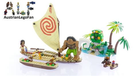 Lego Moana lego disney 41150 moana 180 s voyage lego speed build