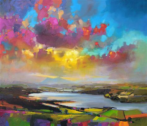 vibrant paintings of scottish landscapes by