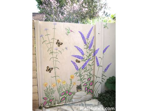 garden wall murals outside wall murals outdoor mural exles