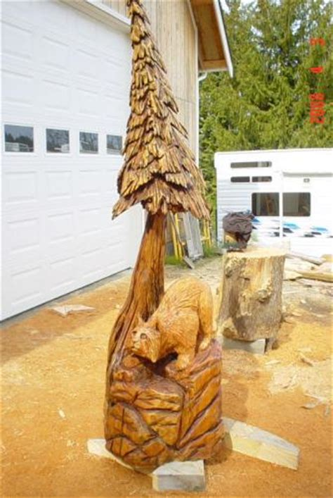 bobcat chainsaw carving chain  sculpture