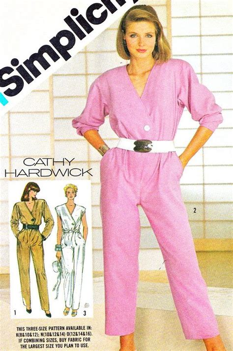 jumpsuit patterns for ladies womens jumpsuit pattern simplicity 6268 cathy hardwick v