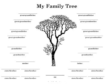 family tree with many siblings template