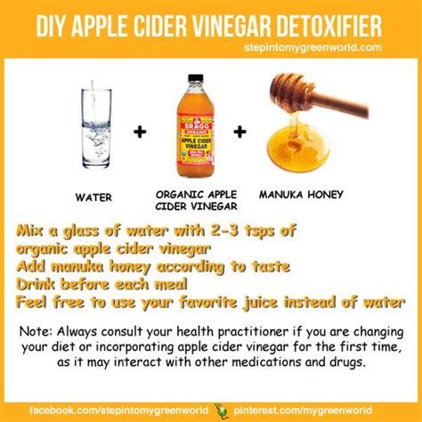 How To Make An Apple Cider Vinegar Detox Drink by Detox With Braggs Apple Cider Vinegar This Is A Simple