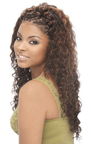 deep wavy micro braiding for older women amazon com deep wave bulk 18 quot human hair blend
